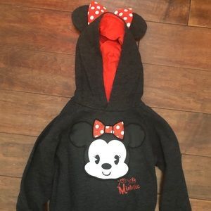 Girls Minnie Mouse Cutie Hooded Sweater Size 5-6